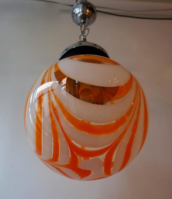 Murano Glass Pendant Light For Sale 3
