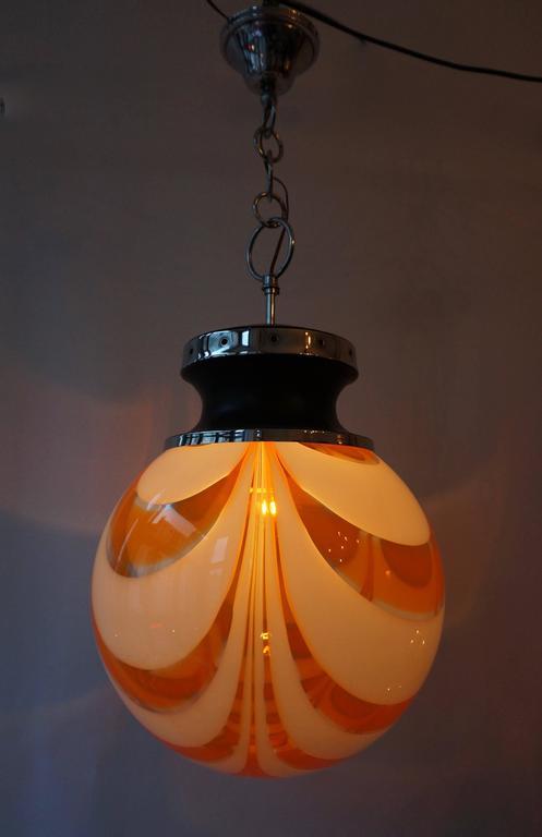Murano Glass Pendant Light For Sale 4