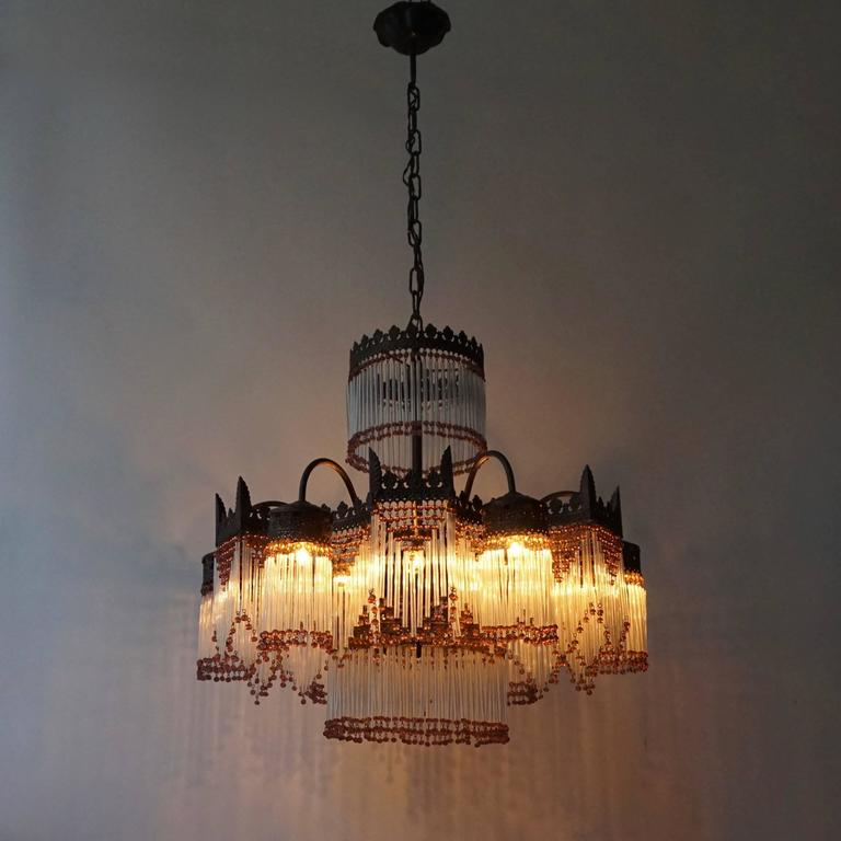 Italian Murano Glass Chandelier In Excellent Condition For Sale In Antwerp, BE