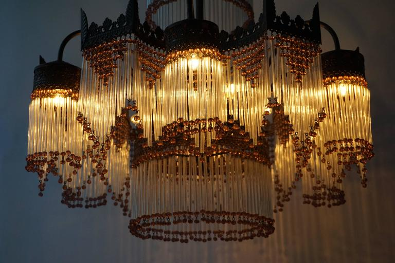 Italian Murano Glass Chandelier For Sale 1