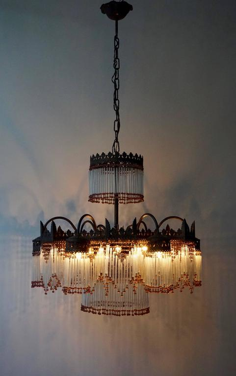 Italian Murano Glass Chandelier For Sale 2