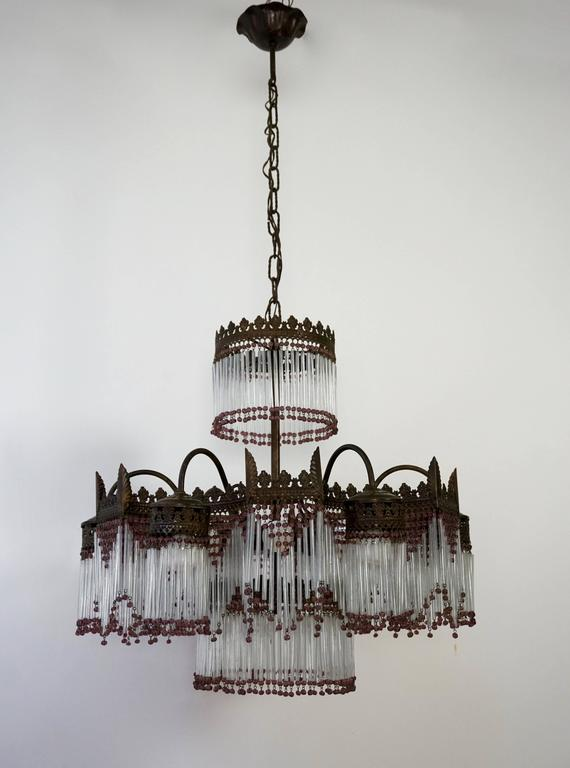 20th Century Italian Murano Glass Chandelier For Sale