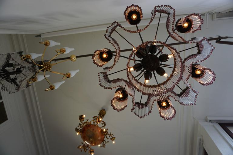 Italian Murano Glass Chandelier For Sale 3