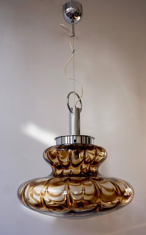 Space Age Murano Glass Pendant Light For Sale