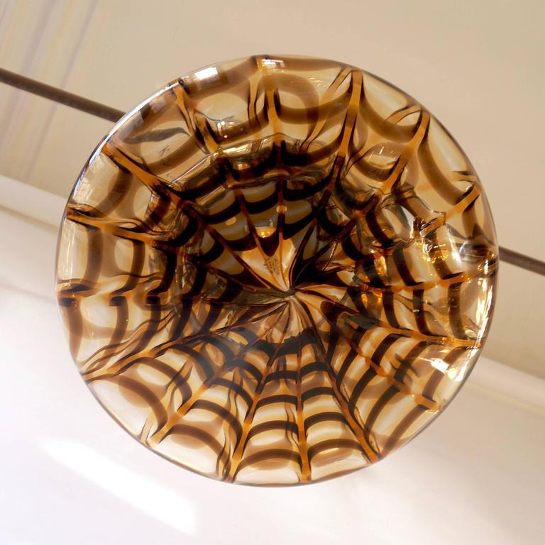 Murano Glass Pendant Light For Sale 2