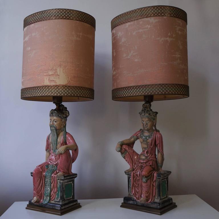 Pair of elegant table lamps.