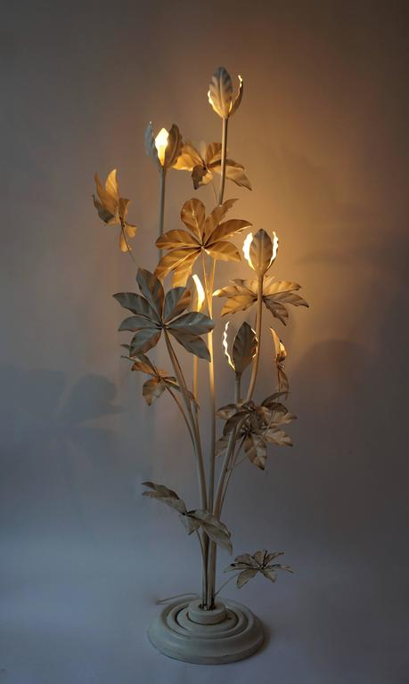 Rare 1950s 39tropical39 floor lamp for sale at 1stdibs for Tropical floor lamp with table