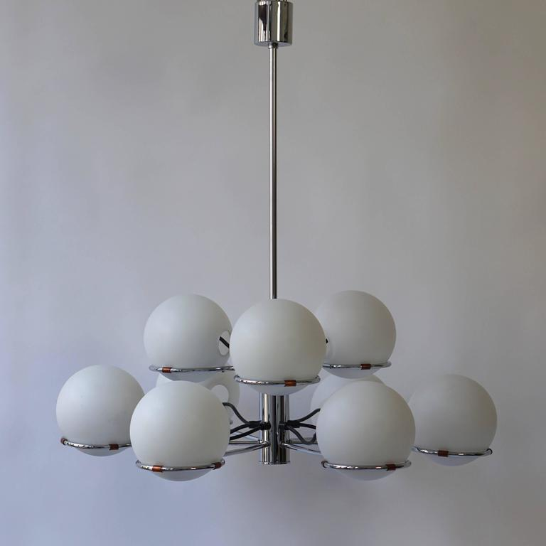 Italian Murano ceiling light or chandelier with nine arms.