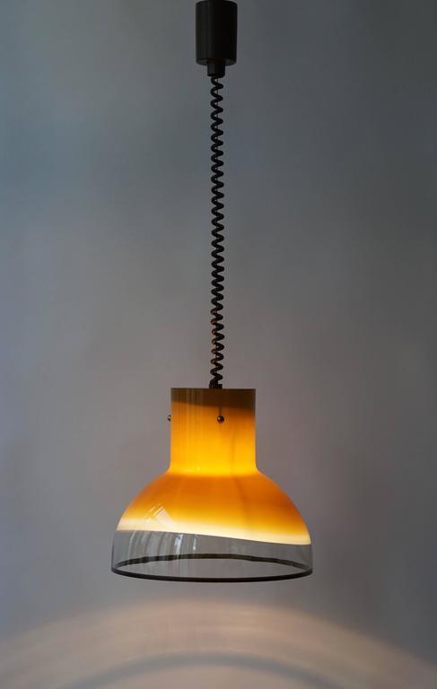 Eight Adjustable Italian Murano Glass Ceiling Lights For Sale 3