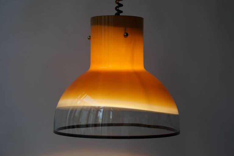 Eight Adjustable Italian Murano Glass Ceiling Lights For Sale 1
