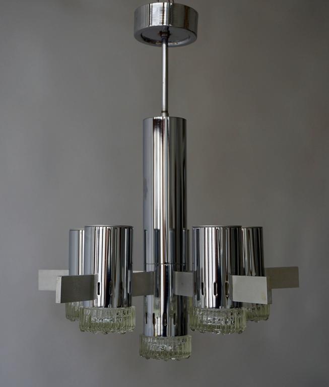 Metal Sciolari Chandelier For Sale