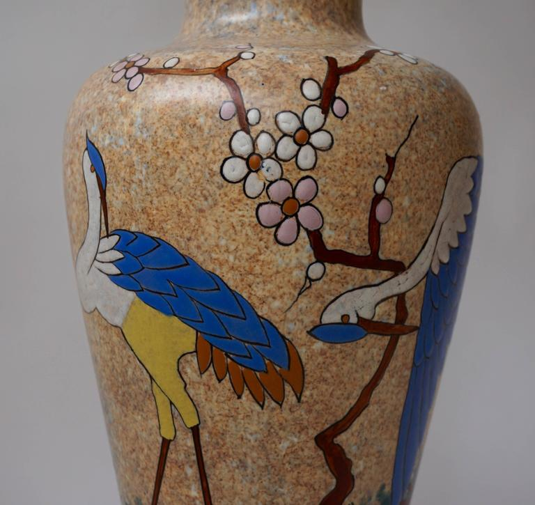 Ceramic Vase by A. Dubois In Excellent Condition For Sale In Antwerp, BE