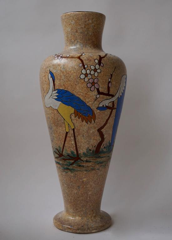 French Ceramic Vase by A. Dubois For Sale