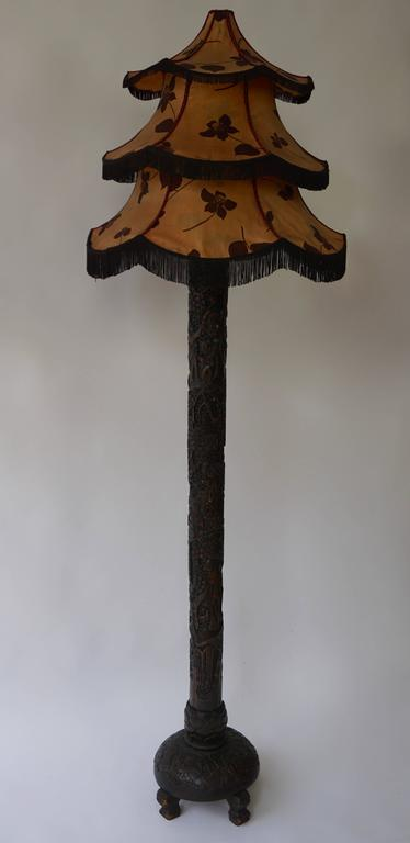 19th Century Chinese Floor Lamp For Sale
