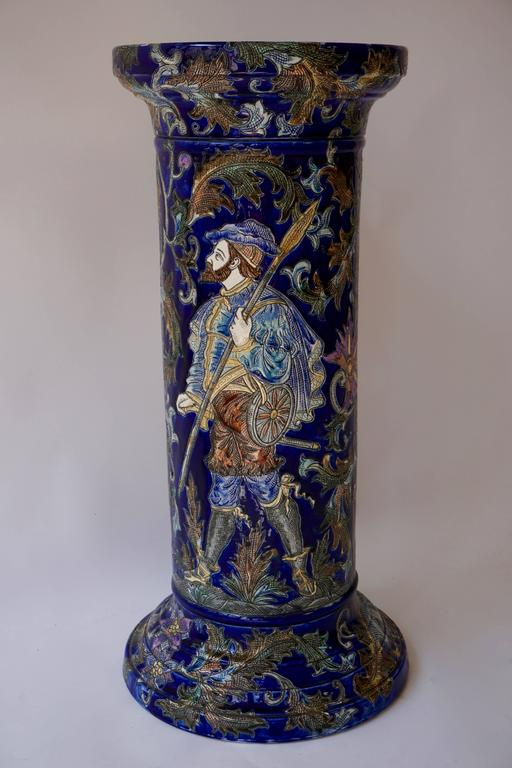 Ceramic column.