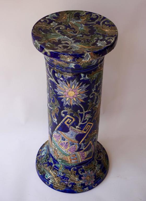 Italian Ceramic Column For Sale