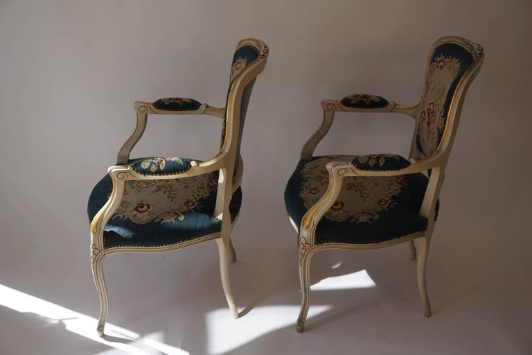 French Set of Two Club Chairs For Sale