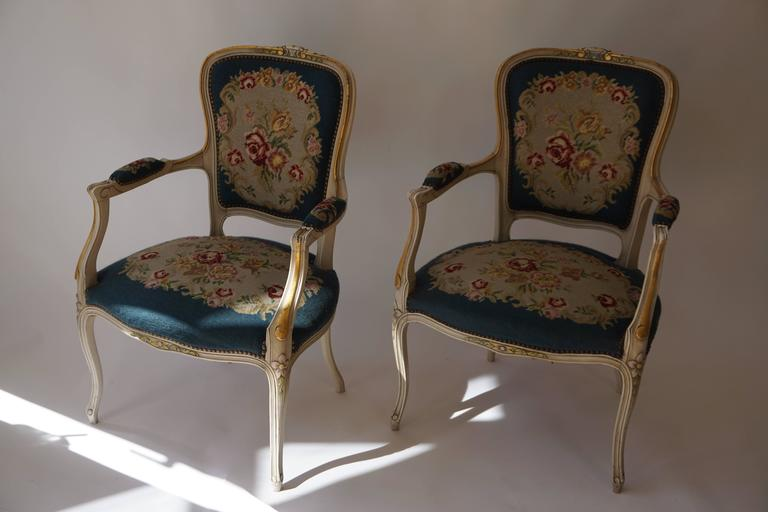 Louis XV Set of Two Club Chairs For Sale