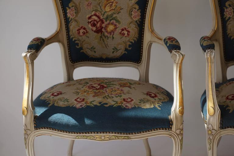 Wood Set of Two Club Chairs For Sale