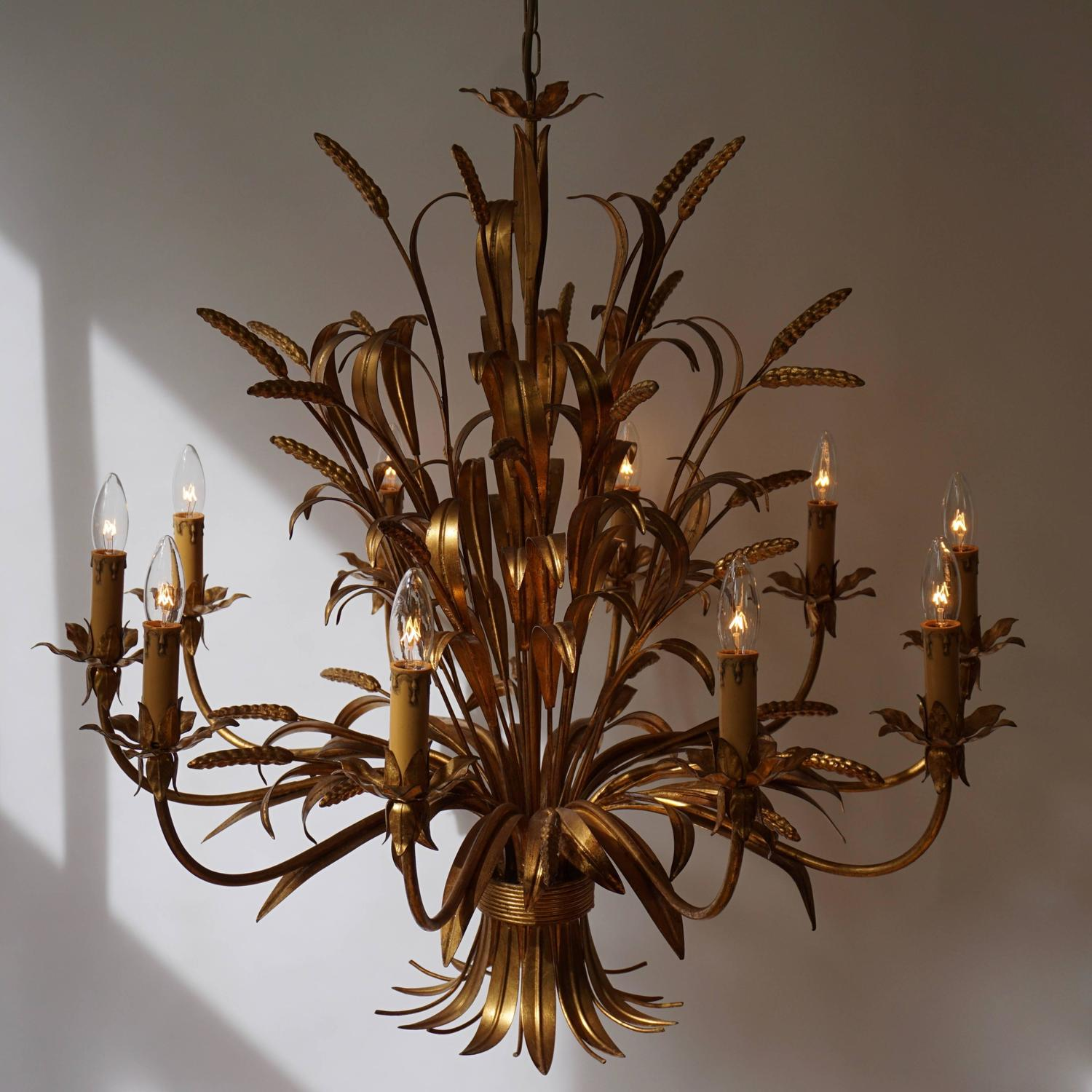 Beautiful Extra Large Brass Chandelier For Sale At 1stdibs