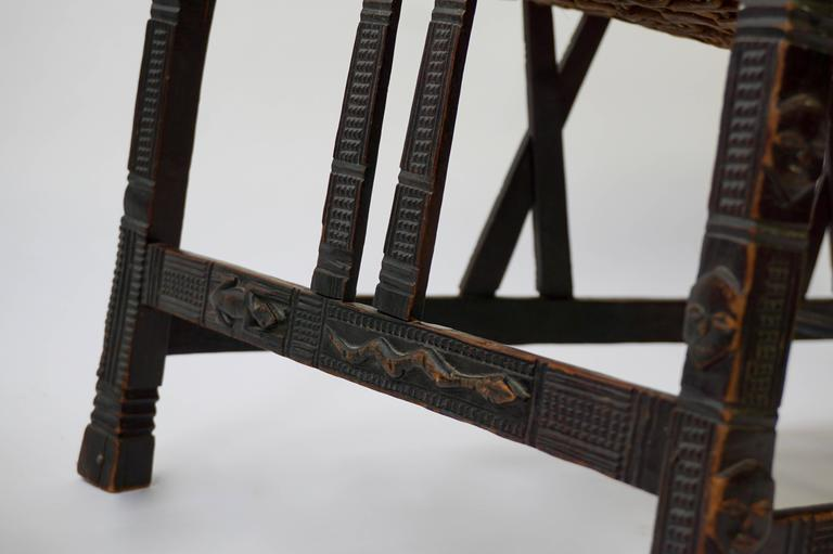 Hardwood Chokwe Bench, Angola, 19th Century In Good Condition For Sale In Antwerp, BE