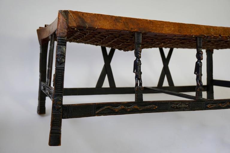 Angolan Hardwood Chokwe Bench, Angola, 19th Century For Sale
