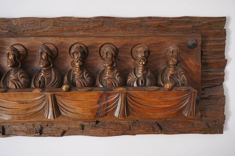 Wood Carving Representing The Last Supper For Sale At 1stdibs