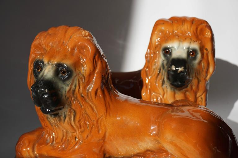 Two Ceramic Lions For Sale 3