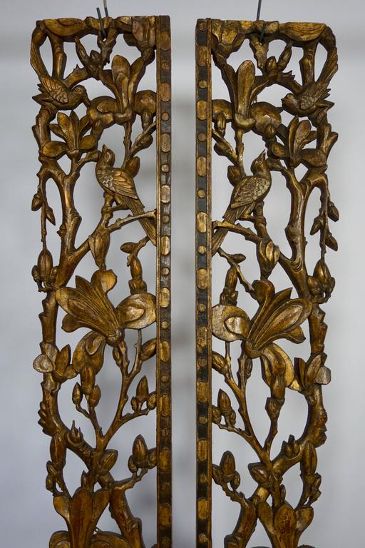 Two Carved Giltwood Mandarin Bed Ornaments - Chinese, 18th or early 19th Century For Sale 2