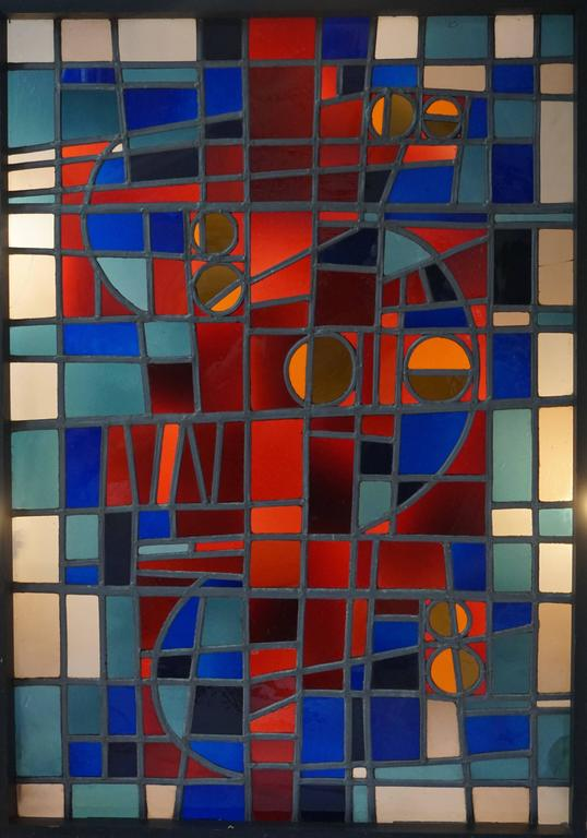 Beautiful stained glass window.