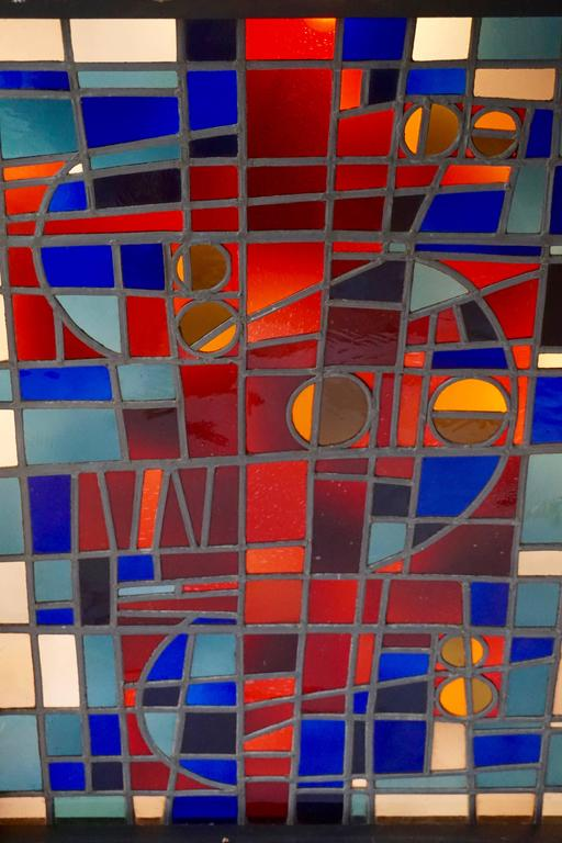 Large Stained Glass Window Panel For Sale 2