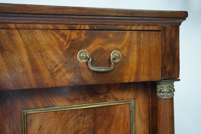 Brass Empire Mahogany Sideboard