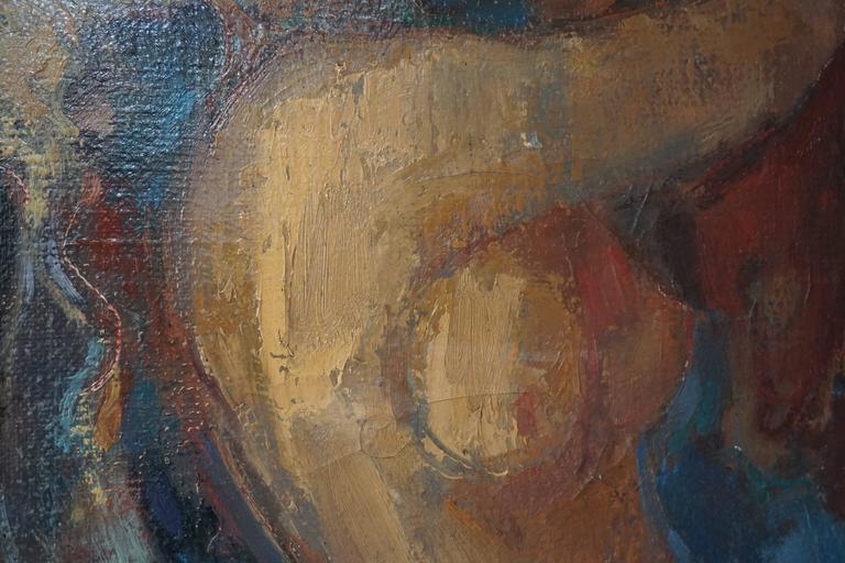 Oil on Canvas Painting, 1968, J Mijsbergen For Sale 1