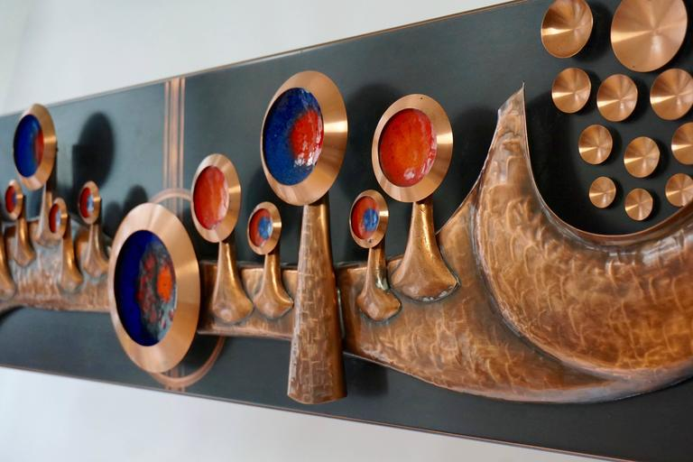 Copper Wall-Mounted Sculpture In Good Condition For Sale In Antwerp, BE
