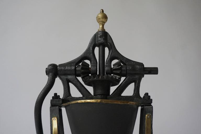 Early 20th Century Decorative Coffee Grinder For Sale