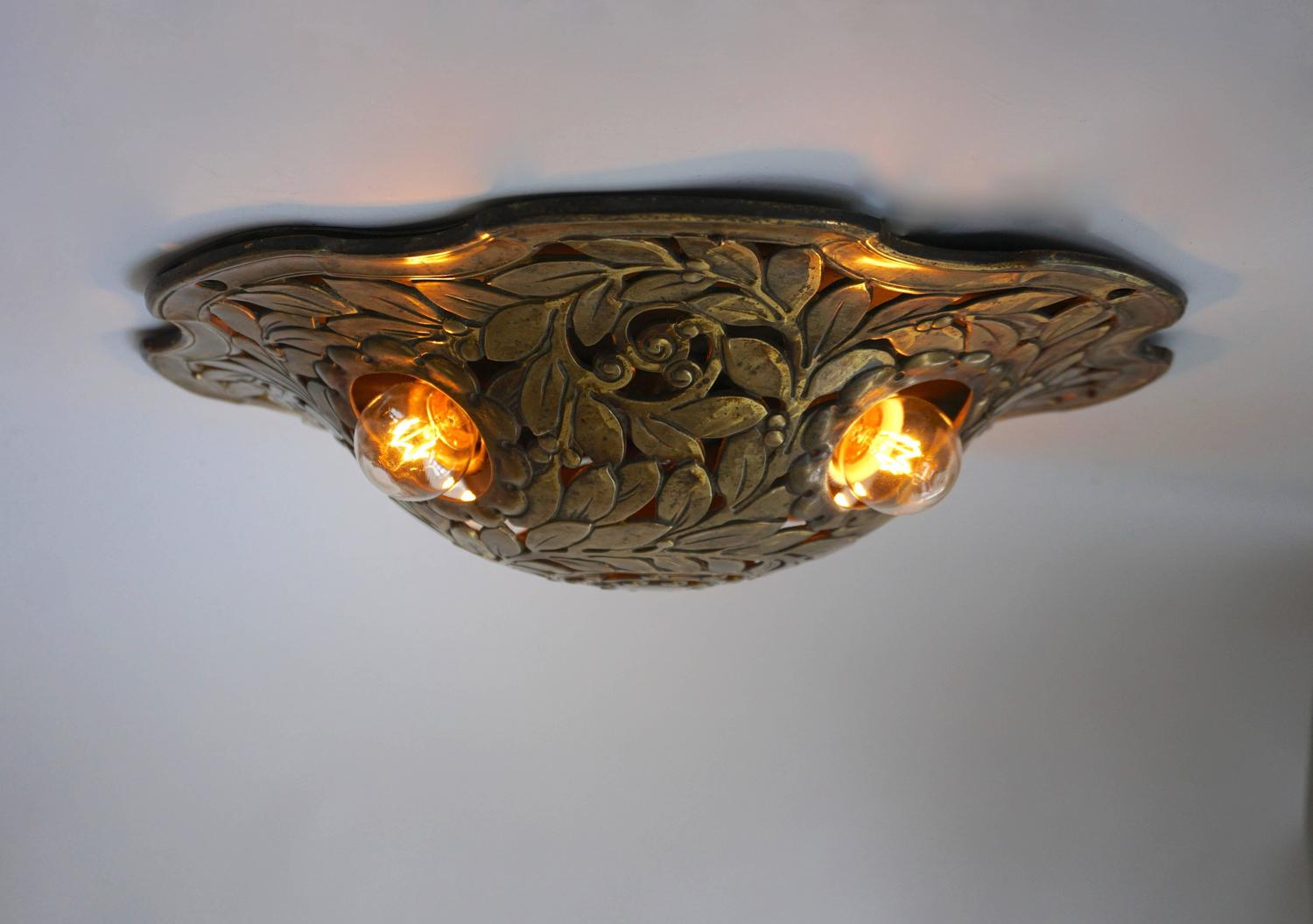 Wonderful Bronze Flush Mount or Wall Sconce For Sale at 1stdibs