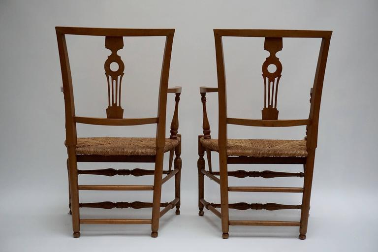 Set of Four Wicker Arm Chairs 5