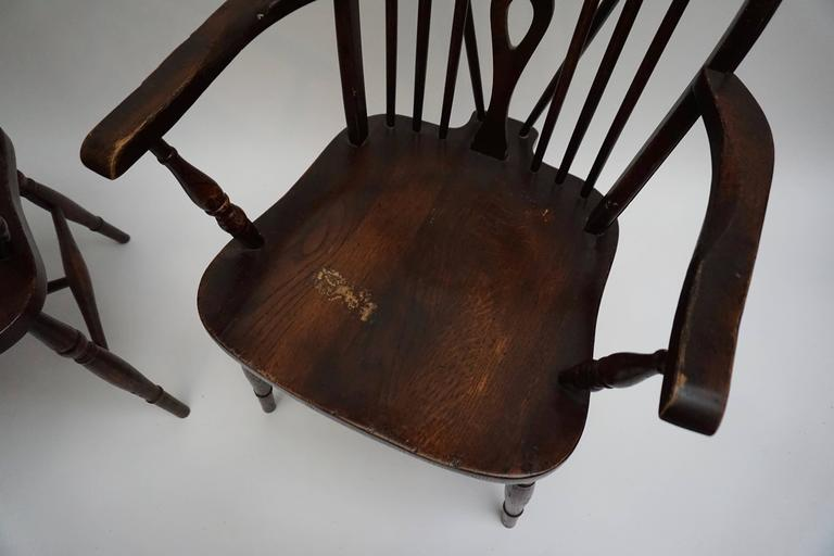 Set of Six English Windsor Chairs For Sale 2