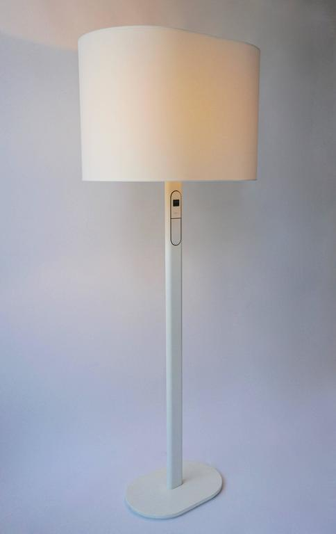 Mid-Century Modern White Floor Lamp by Staff Germany For Sale