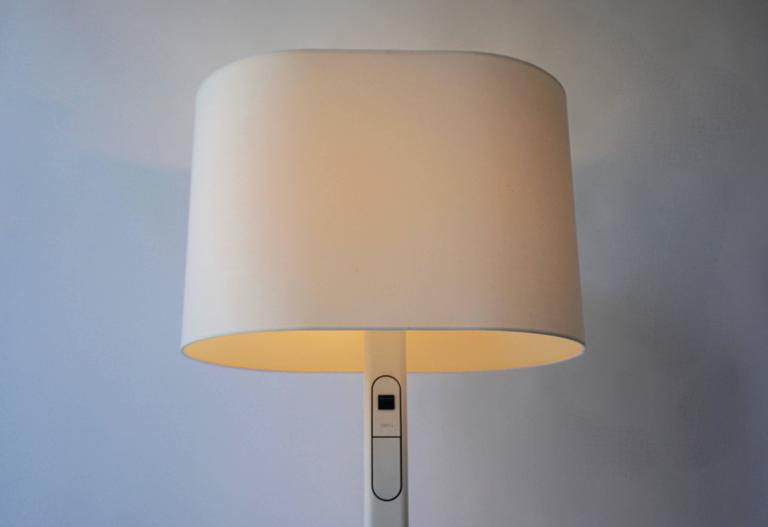 Metal White Floor Lamp by Staff Germany For Sale