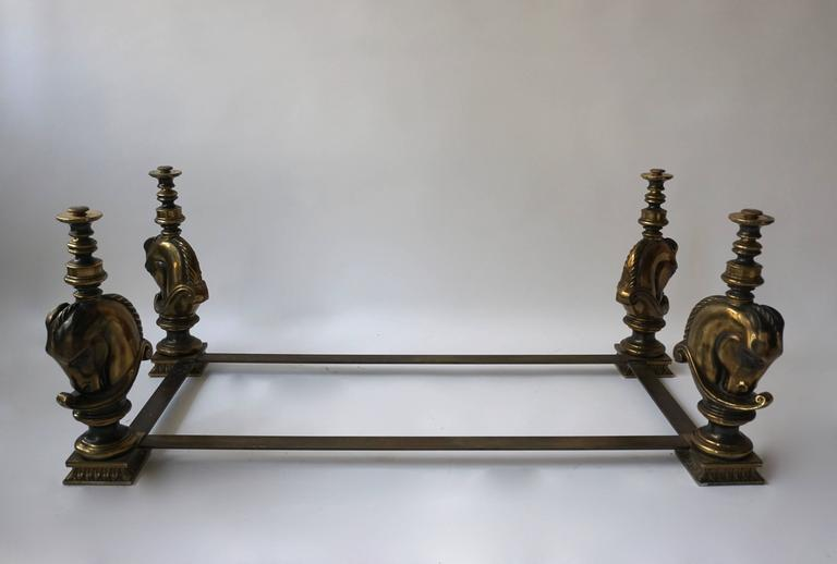 Mid-Century Modern Brass Coffee Table Base For Sale