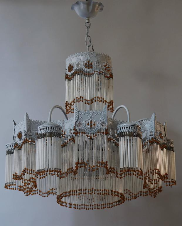 Italian Murano glass chandelier.