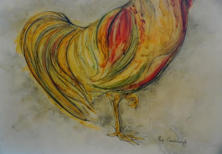 Belgian Painting by Rein Cauwenbergh For Sale