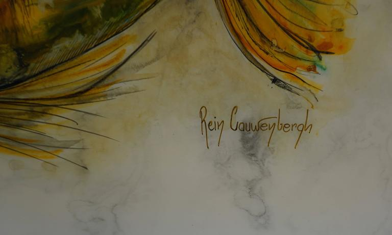 20th Century Painting by Rein Cauwenbergh For Sale