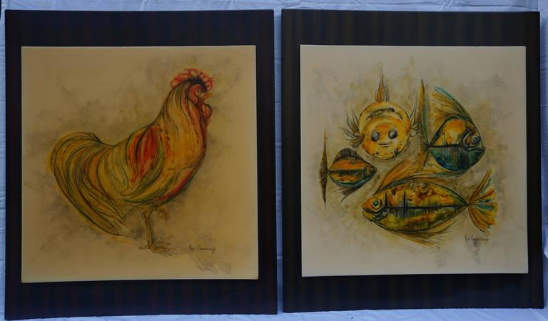 Wood Painting by Rein Cauwenbergh For Sale
