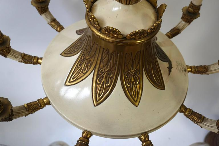 Spectacular Bronze and Painted Chandelier 10