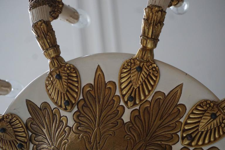 Spectacular Bronze and Painted Chandelier 8