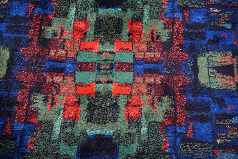 Modernist 1970s carpet rug.