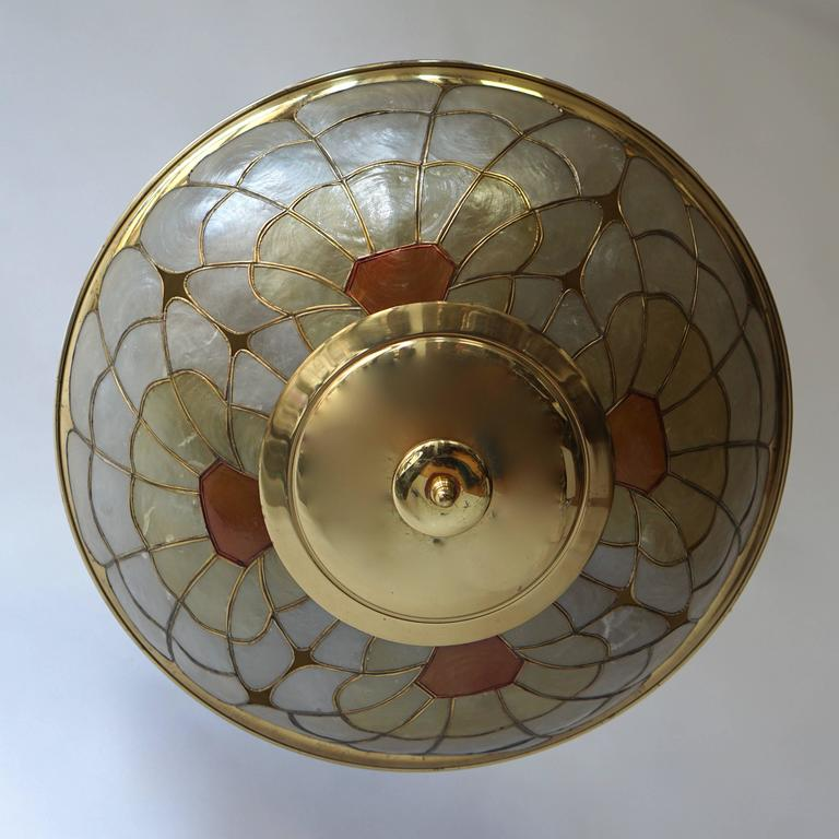 Italian Brass Flush Mount or Wall Sconce For Sale