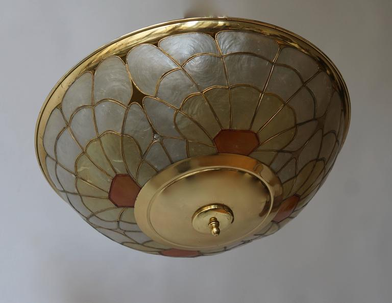 20th Century Brass Flush Mount or Wall Sconce For Sale